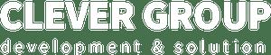 лого clever group белый